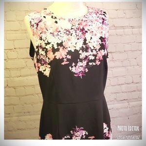 ■NY & Co■(12) Floral Sheath Dress